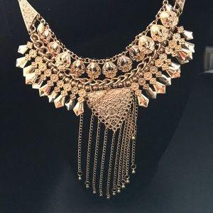 New Badgley Mischka Byzantine Bib Necklace W@W
